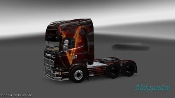 Scania Streamline V Vendetta Skin