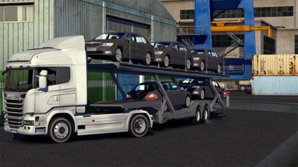 Skoda Superb Car Transporter