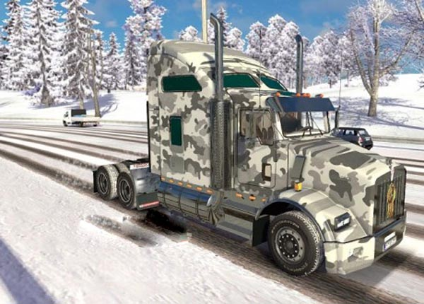 Winter Army Kenworth T800
