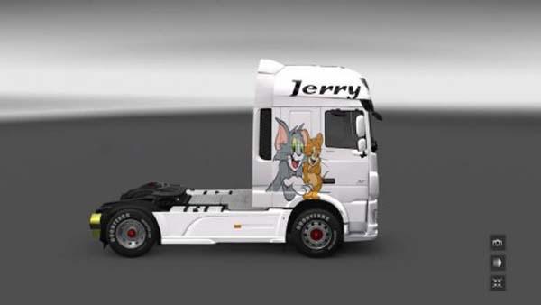 DAF Euro 6 Skin Tom & Jerry