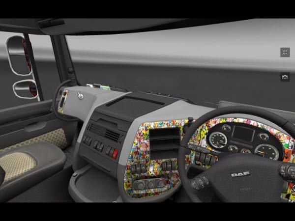 DAF XF 105 interior sticker bomb interior