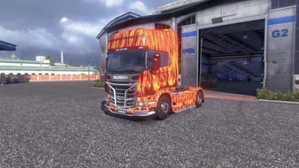 Flames Scania R 2009