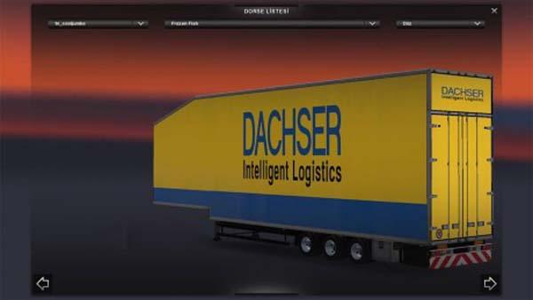 Krone Doubledecker Refrigerated DACHSER Logistics Trailer