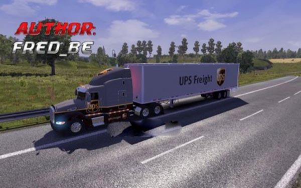 Peterbilt 386 UPS Skin + Trailer
