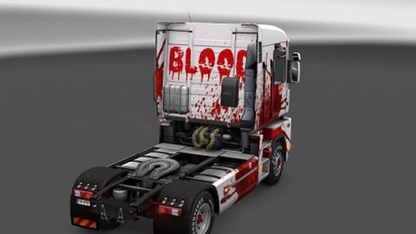 Renault Magnum Blood Skin + Trailer