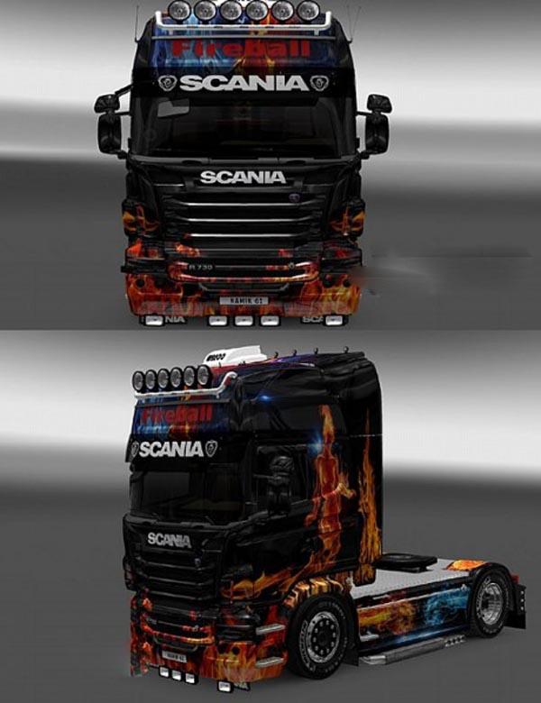Scania R FiREABALL Skin