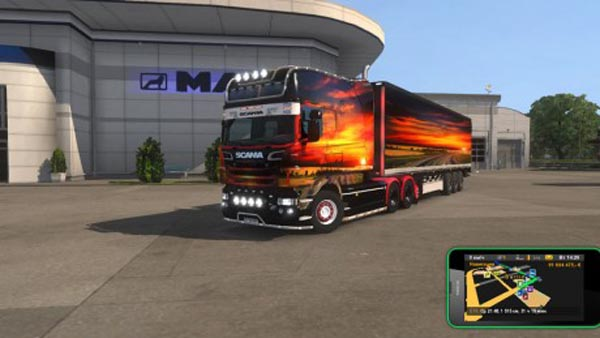 Scania RJL Sunset Skin