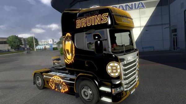 Scania Streamline Bruins Methalic Skin
