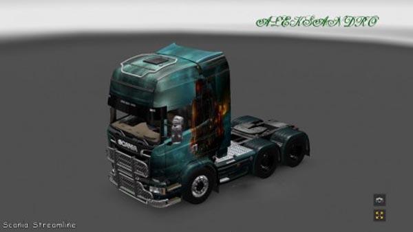 Scania Streamline Fantasy Ship Skin