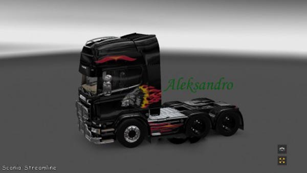 Scania Streamline Night Wolf Skin