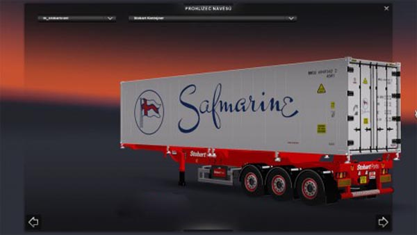 Stobart Container Trailer