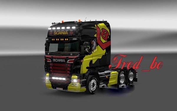 V8 Skin for Scania R Longline