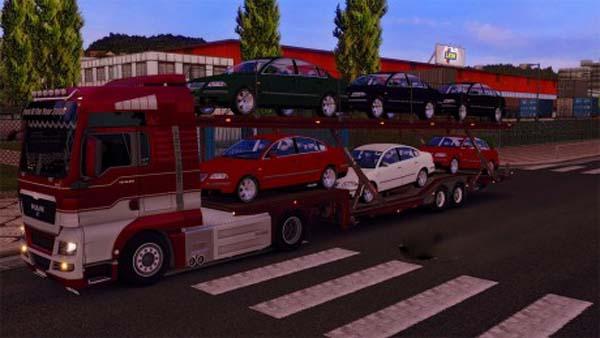 Volkswagen Passat Car Transport Trailer