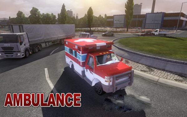 Auto Ambulance in Traffic