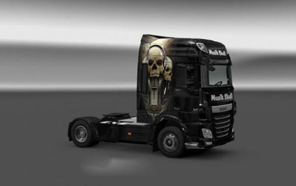 DAF XF 106 Musik Skull Skin