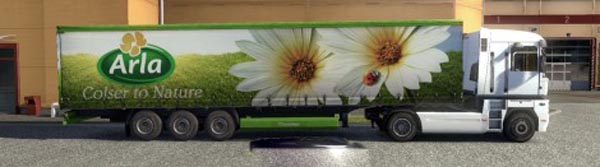 Krone Profiliner and Coolliner Arla Trailer Skin