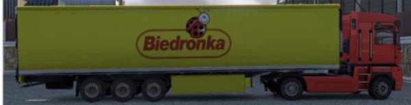 Krone Profiliner and Coolliner Biedronka Trailer Skin