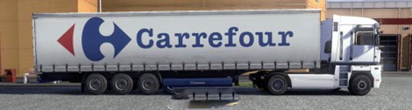 Krone Profiliner and Coolliner Carrefour Trailer Skin