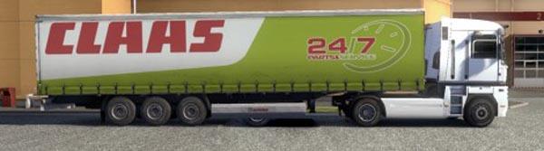 Krone Profiliner and Coolliner Claas Service Trailer Skin