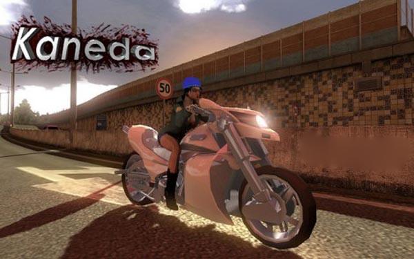 Motorcycle Kaneda in Traffic