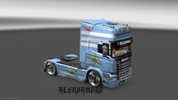 Scania Streamline Manchester City Skin
