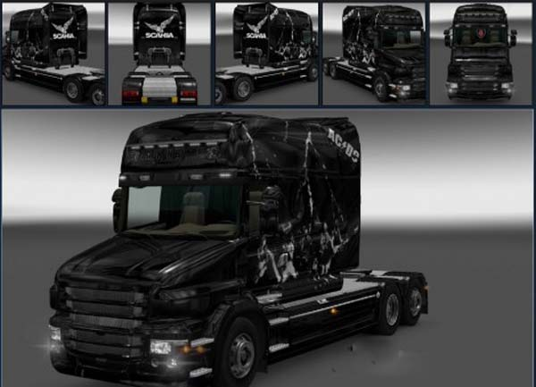Scania T Back in Black Skin