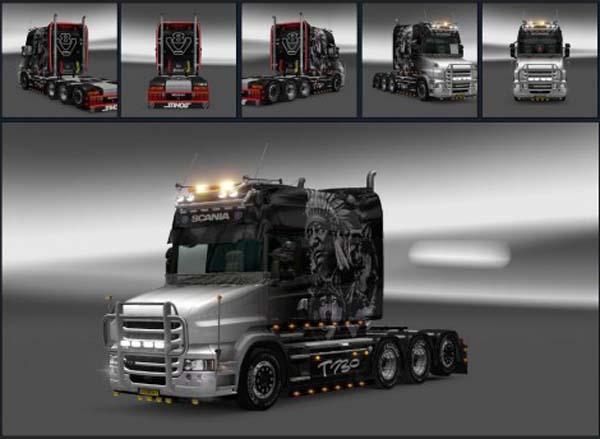 Scania T Indian Black Skin