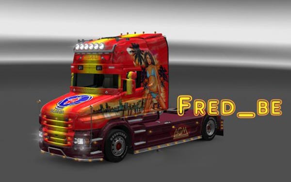 Scania T Transport Beau Skin
