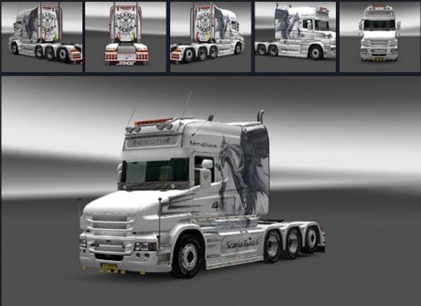 Scania T White Dragon Skin