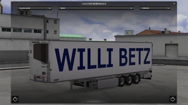 Trailer Standalone Chereau WILLI BETZ