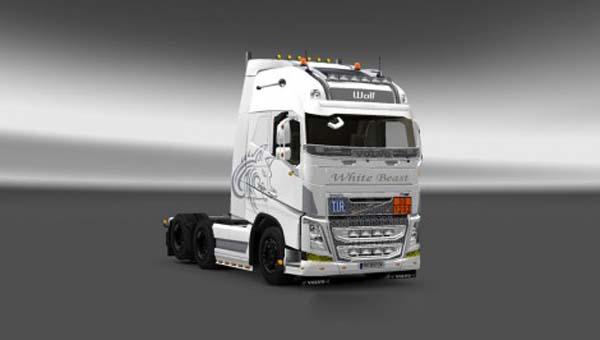 Volvo White Beast Skin