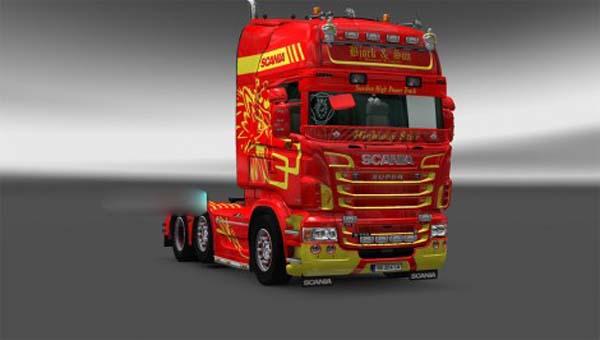 Bjork ans son skin Scania RJL