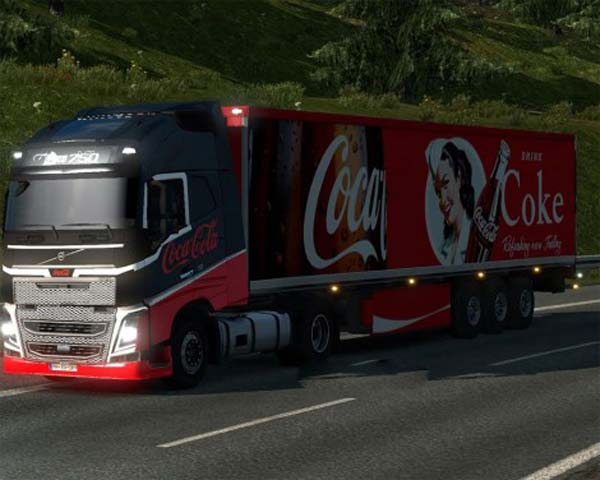 Coca Cola Volvo skin and trailer