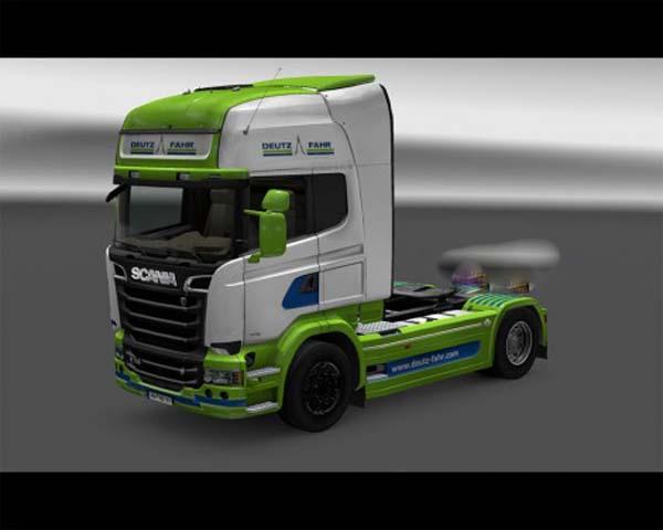 Deutz Fahr Streamline Scania skin + trailer