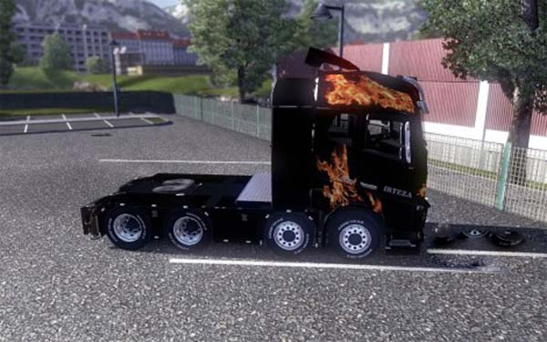 Flames Volvo 2013