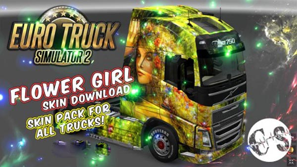 Flower Girl Skin Pack for All Trucks + Volvo Ohaha