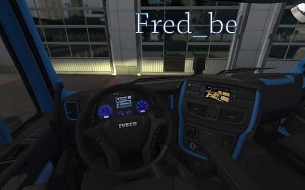Iveco Hi Way Blue Interior