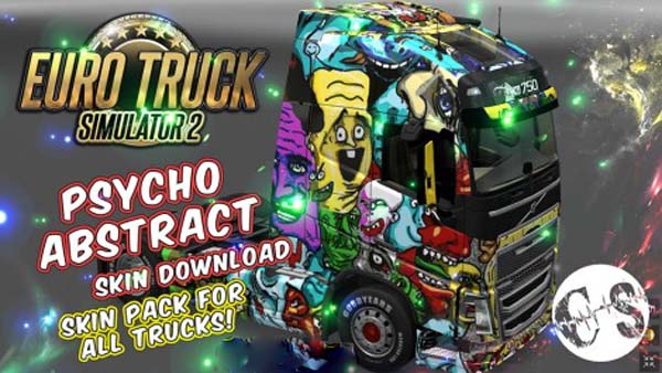 Psycho Abstract Skin Pack for All Trucks