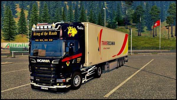 Scania R Black King Skin