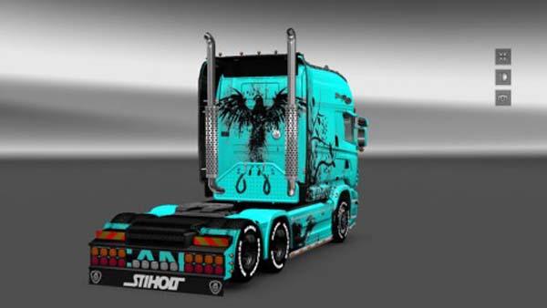 Scania RJL EXC Longline Abstrakt Skin