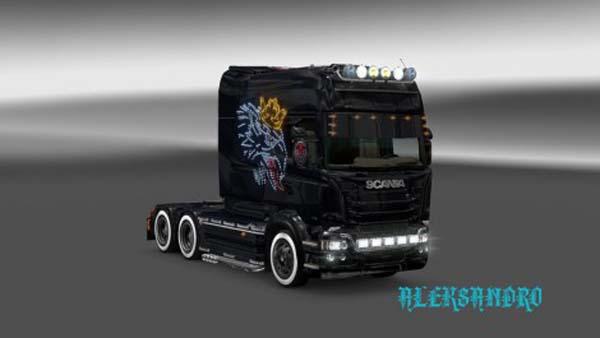 Scania RJL Neon V8 Skin