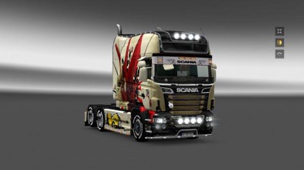 Skin for RJL Scania + trailer