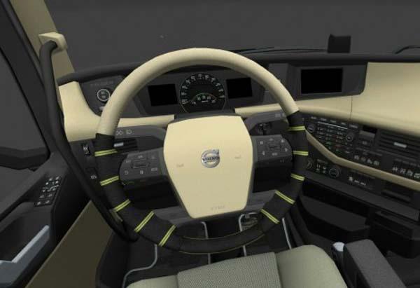 Striped Volvo 2012 Steering Wheel