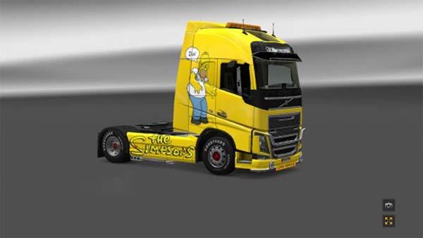 The Simpsons Skin Volvo