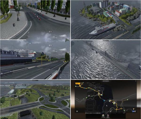 Bridge from Calais to Dover and City on Island v 4.0