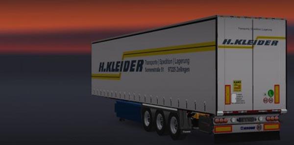 H.Kleider Transporte Trailer