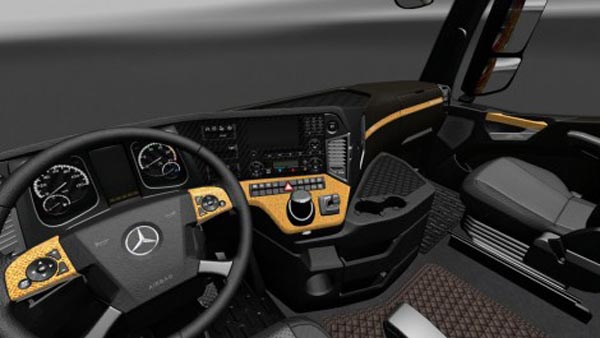 Mercedes Аctros 2014 Carbon Fiber and Leather Interior