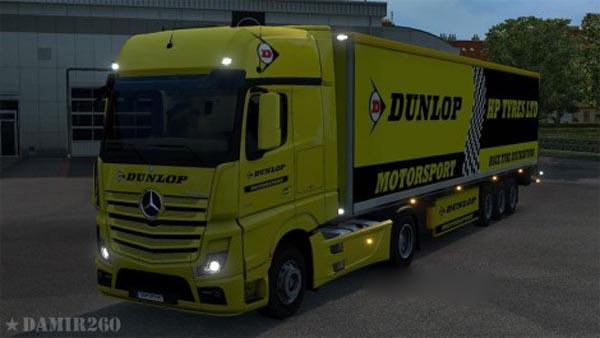 Mercedes Actros 2014 Dunlop skin pack