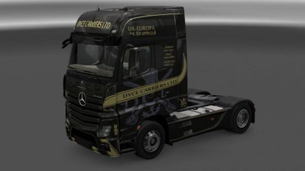 Mercedes Actros MP4 Dyce Carrier Ltd Skin