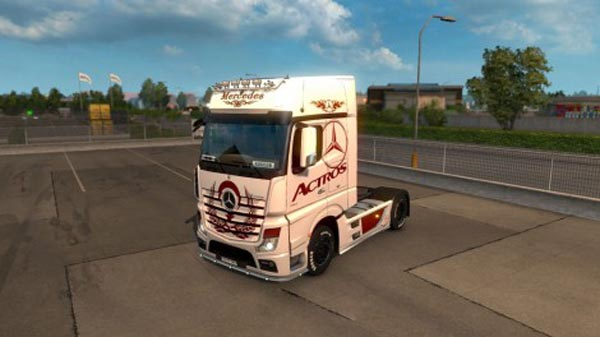 Mercedes Benz Actros 2014 Tribal Skin